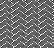 Seamless Stylish Geometric Background. Modern Abstract Pattern. Flat Monochrome Design.Monochrome Pattern With Diagonal Gray Doubled Stripes Forming Chevron