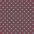 Seamless Stylish Geometric Background. Modern Abstract Pattern. Flat Textured Design. Colored Red And Pink With Hairy Circles