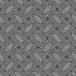 Seamless Stylish Geometric Background. Modern Abstract Pattern. Flat Monochrome Design.Dark Gray Ornament With Offset Interlocking Rounded Shapes