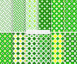 Seamless Stylish Geometric Background Set. Simple Patterns.Each Pattern Grouped On Separate Layer Under Cover. Easy To Edit Or Recolor
