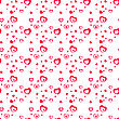 Seamless Stylish Pattern With Red Hearts. Vector Illustration. Valentine Background