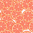 Seamless Template Of Grapefruit Slices, Pattern stock vector
