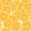 Seamless Template Of Orange Slices, Pattern stock illustration