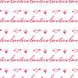 Seamless Valentine Pattern With Word Love And Hearts With Wings. Love Text