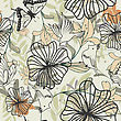 Fashion Seamless Vector Floral Pattern. For Easy Making Seamless Pattern Just Drag All Group Into Swatches Bar, And Use It For Filling Any Contours. stock illustration