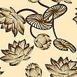 Seamless Vector Floral Pattern. For Easy Making Seamless Pattern Just Drag All Group Into Swatches Bar, And Use It For Filling Any Contours. EPS 10