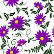 Seamless Vector Floral Pattern. For Easy Making Seamless Pattern Just Drag All Group Into Swatches Bar, And Use It For Filling Any Contours. EPS 10 stock vector