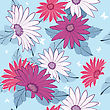 Seamless Vector Floral Pattern. For Easy Making Seamless Pattern Just Drag All Group Into Swatches Bar, And Use It For Filling Any Contours. EPS 10 stock illustration