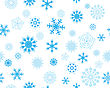 Seamless Vector Snowflakes Background In Different Shapes