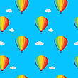 Seamless Wallpaper Balloons And Clouds In The Sky