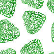 Seamless Wallpaper Circuit Board Pattern In The Shape Of The Heart Vector Background