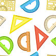 Seamless Wallpaper The Ruler And Protractor Line Of The Triangle Vector Background stock illustration