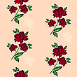 Seamless Wallpaper A Seam With Flower And Leaves Eps10