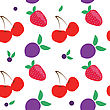 SEAMLLES Fruit PATTERN stock illustration