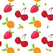 SEAMLLES Fruit PATTERN stock vector