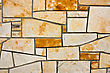 Section Of Flagstone Wall With Varying Shapes And Lines stock photo