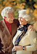 Senior Couple Outdoors Smiling stock image