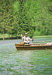 Senior Fishing stock photo