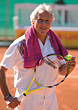 Senior Man Tennis Player stock photo