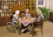 Seniors Playing Board Game stock image