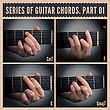 Series Of Guitar Chords With Symbols. Part 01 stock photography