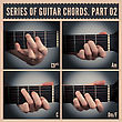 Series Of Guitar Chords With Symbols. Part 02 stock photography
