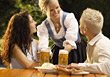 People Eating  Serving Beer stock photography