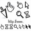 Set Of 3d Vector And Pixel Cursors