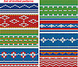 Set Of 9 Knitted Ornamental Seamless Patterns