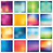 Set Of Abstract Backgrounds Blurred. Vector Illustration stock vector