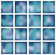 Set Of Abstract Backgrounds Blurred. Vector Illustration stock illustration