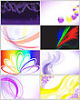 Set Abstract Beautiful Of Gift Card stock illustration