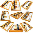 Set Of Accounting Abacus For Financial Calculations Lies stock image