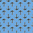 Set Of Anchor Isolated On White Background. Anchor Seamless Pattern