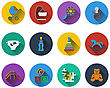 Set Of Baby Icons In Flat Design