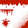 Set Of Blood Splatters Isolated On White Background. Red Blood Blobs And Splatters. Bloody Angle. Bloody Pattern