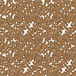 Set Of Brown Pazzle On White Background. Seamless Jigsaw Pattern