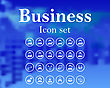 Set Of Business Icon. EPS 10 Vector Illustration With Mesh And Without Transparency