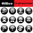 Set Of Business People Glossy Icons. EPS 10 Vector Illustration