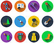 Set Of Camping Icons In Flat Design