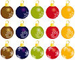 Set Of Christmas (New Year) Balls For Design Use.