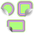 Set Of Colored Stickers Isolated On White Background