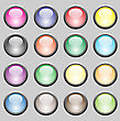 Set Of Colorful Buttons Isolated On Grey Background