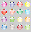 Set Of Colorful Christmas Balls Isolated On Grey Background