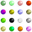 Set Of Colorful Spheres Isolated On White Background stock vector
