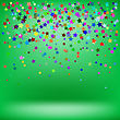 Set Of Colorful Stars On Green Background. Starry Pattern
