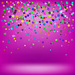 Set Of Colorful Stars On Soft Pink Background. Starry Pattern