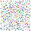 Set Of Colorful Stars On White Background. Starry Pattern