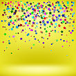 Set Of Colorful Stars On Yellow Background. Starry Pattern