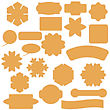 Set Of Commercial Stickers Badges And Elements Isolated On White Background. Labels Collection